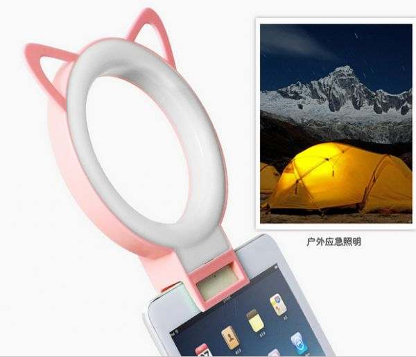 Cat Ear Shaped Mini LED Flash Selfie Ring Light Portable Round Flashes For  IPhone Samsung Great Ideas