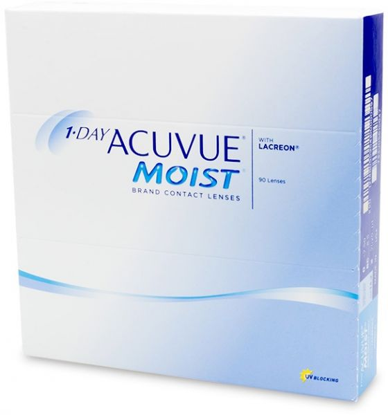 027cffaf57d 1-Day Acuvue Moist Contact Lens - 90 Pack