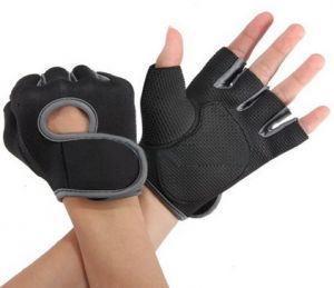 b3c08b889 1 Pair Sport Cycling Fitness GYM Weightlifting Exercise Half Finger Sport  Gloves for Men