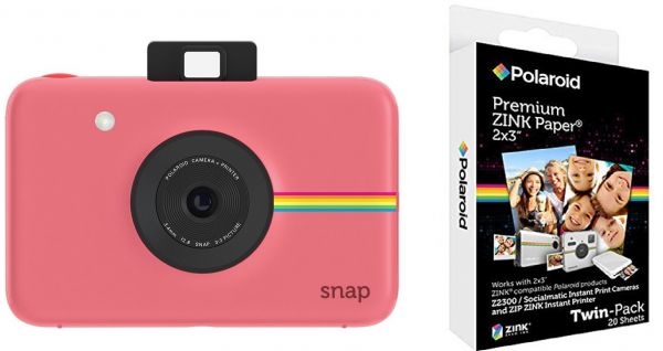 Polaroid Snap Instant Digital Camera Pink Polaroid 2x3 Inch