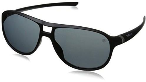 d116833ad9 Tag Heuer 27 Degree Black Aviator Sunglasses with Silver Accent 6043-101