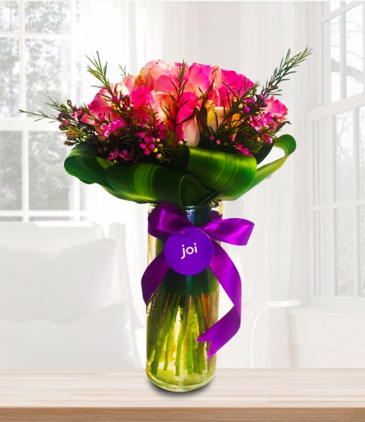 Souq | joiFlowers All About The Pink Mixed Flower Bouquet | UAE