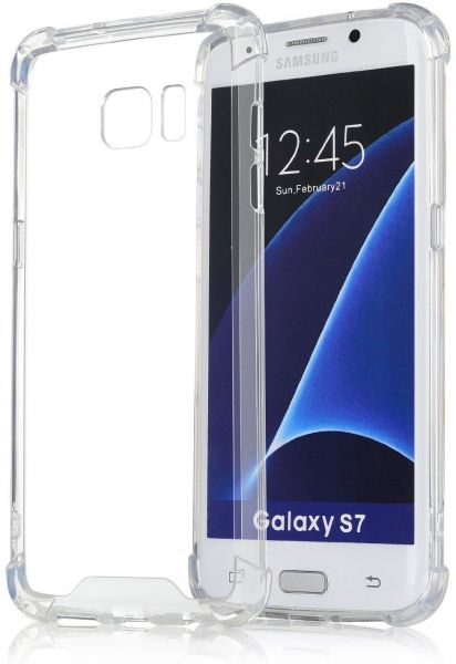 san francisco 6d921 aa3aa [Crystal Clear] Samsung Galaxy S7 Edge Case, King Kong Protective Cover  Case with Transparent Hard Plastic Back Plate and Soft TPU Gel Bumper -  Clear