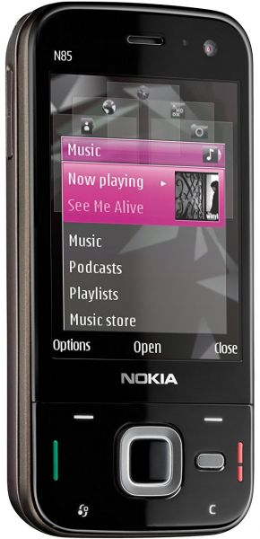 Nokia N85 2.6 inches , 74 MB , 3G , Wi-Fi , Brown