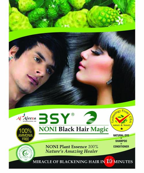 BSY Noni - Black Hair Magic Shampoo - 20ml - Natural Organic Hair ...