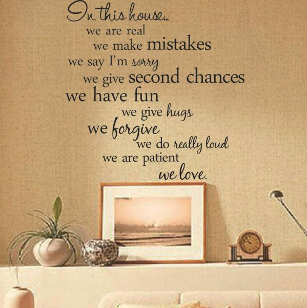 Souq | House rules quote wall stickers home decor living room diy ...