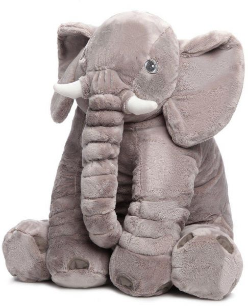 Baby Stuffed Elephant Plush Pillows Grey 60cm Souq Uae
