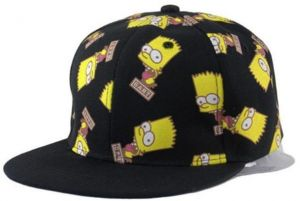Unisex Black Bart Simpson from The Simpsons baseball style cap dd697127f066
