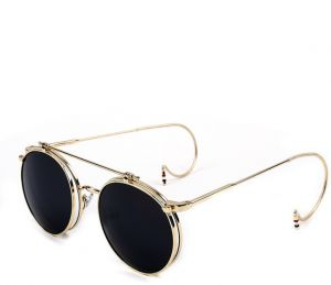 d6eafd1dc98 Punk Clamshell Sunglasses Retro Hipsters Sunglasses