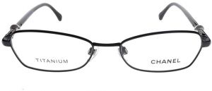 d7ac042e95 Chanel Mod 2166-T-H Col 101 (Black) Size 52 Women Titanium Optical Frames  Made in Italy