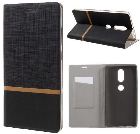 the latest f5b24 7990d Lenovo Phab 2 Plus Texture Leather Stand Case Cover- Black