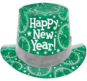 Party Centre Amscan Prismatic Green New Year Top Hat 71071371c0a0