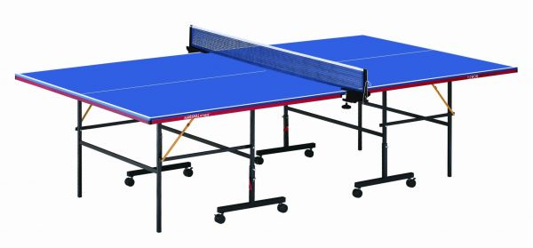 Marshal Fitness 12606 Table Tennis Table Ping Pong Table Foldable Indoor  With Post And Net, Blue
