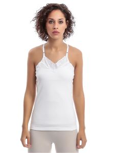 2ba63ea7d2cad Slugger White Cotton Camisole With Embroidery For Women