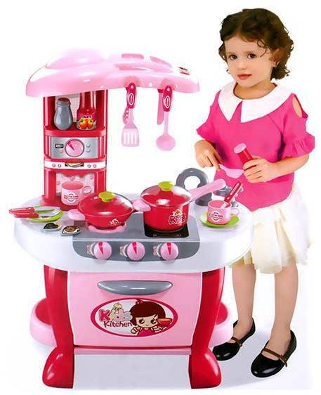 Little Chef Kids Kitchen Play Set (Pink)