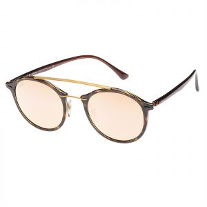 61418a0b8a3 Ray-Ban Round Double Bridge Light Ray Unisex Sunglasses - RB4266-710 2Y
