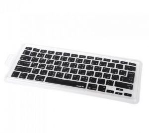 Arabic Language Layout Silicon Keyboard Skin Film Cover for Apple MacBook Air Pro 13 15 and 17inch-Black