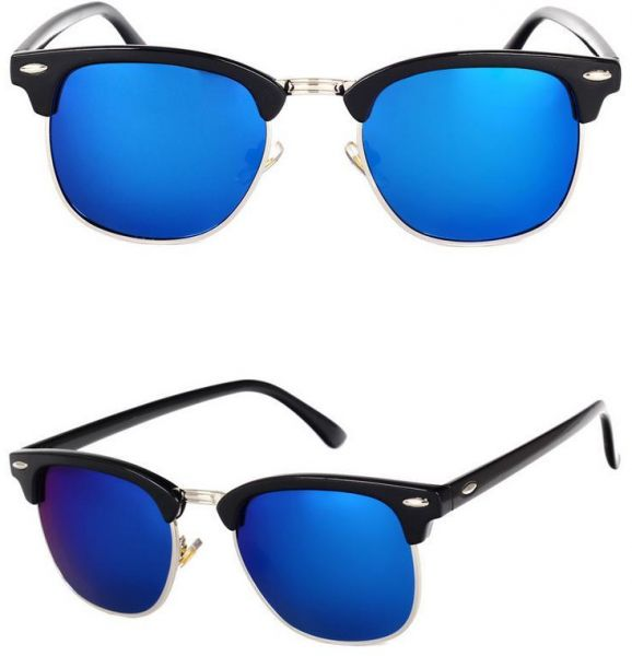 95f74f4e0be Fashion -Unisex Retro Style Black Frame Polarized Light Sunglasses Reflect  Light C2