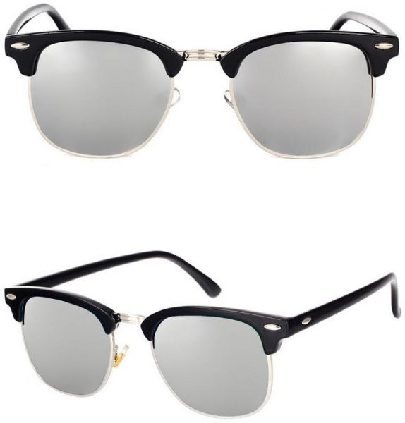 243b72e5534 Fashion Trend Unisex Retro Style Black Frame Polarized Light Sunglasses  Reflect Light C7