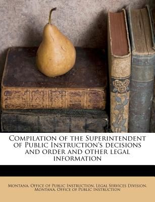 Souq Compilation Of The Superintendent Of Public Instructions