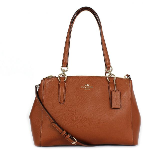 6c11479f63ef9 Coach F36637 Small Christie Carryall Crossgrain Leather Satchel in ...