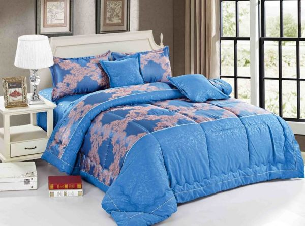 Paisley Comforter Set 6 Pieces By Ming Li King Size Blue Th