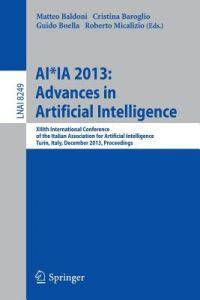 1f99bbe6e749c8 AI Ia 2013  Advances in Artificial Intelligence  XIIIth International  Conference of the Italian Association for Artificial Intelligence