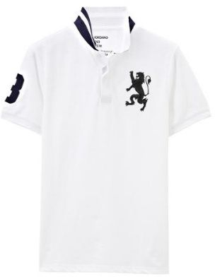 Giordano 3d Lion Polo For Men Size Xxl White Souq Uae