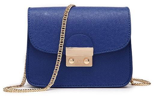 Polyurethane Bag For Women Blue Crossbody Bags
