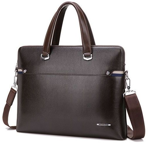Classic Business Bag Leather Handbag Shoulder Briefcase Laptop For Men By 73b Brown