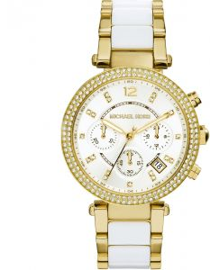 38b584c85af1 Michael Kors Two Tone Stainless White dial Watch for Women s MK6119