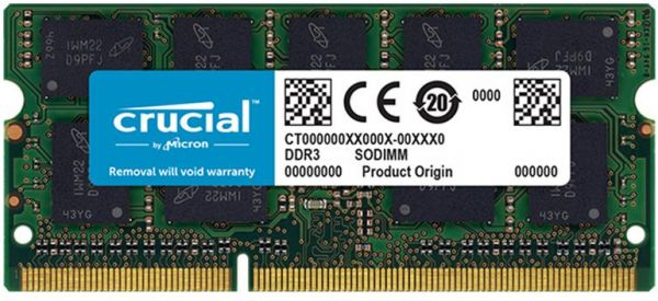 Crucial 8gb Ddr3 1600 Mt S Ram For Mac Pc3 12800 Cl11 Sodimm