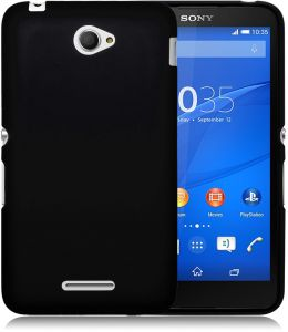 Silicone Back Case Cover By Ineix For Sony Xperia E4 - BLACK