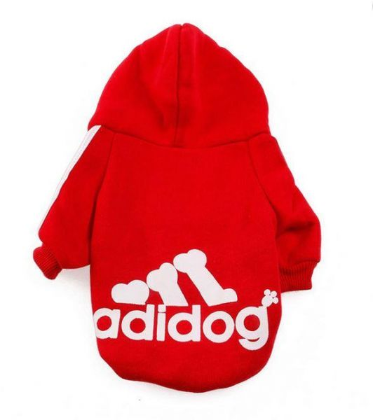 Adidog pet clothes dog sweater Hoodie coat apparel. Size S