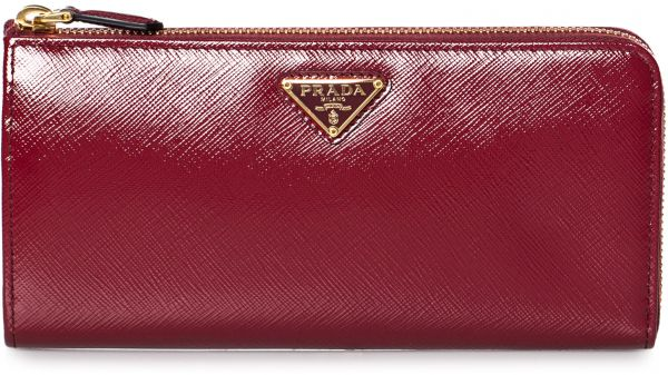 d618b15bd34c Prada 1ML183-F0KY8 Saffiano Vernice Zip Around Wallet for Women ...