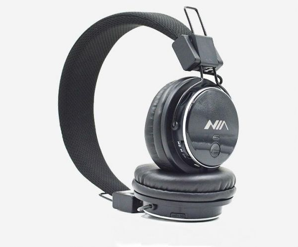 NIA Q8 Collapsible Bluetooth Headset TF Card Play FM Radio All in one  Headphones Black  d2a6444cd2