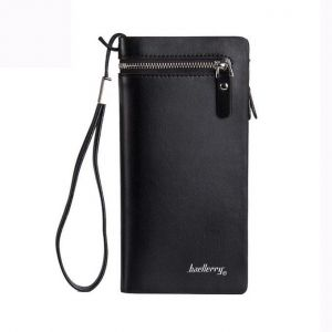 c2f2cf122b57 Baellerry Multifunctional Big Capacity Long Mens Casual Leather wallet  zipper Coins Holder Handbag with HandStrip