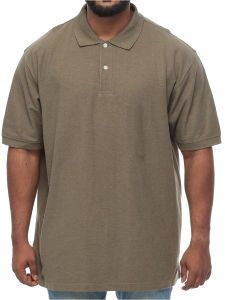 36f4ec7b Harbor Bay Big and Tall Wood Pique Polo Short Sleeve Shirt for Men - Olive  Green