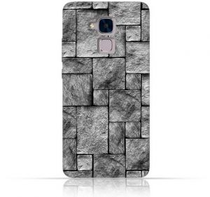 Huawei Honor 5c TPU Silicone Case with Stoney Wall Pattern Design