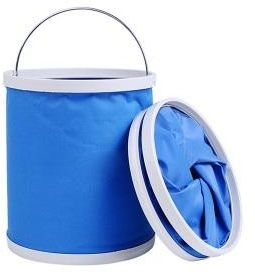 Outdoor Camping Fishing Folding Collapsible Bucket Water Container Car Storage - 11L Blue
