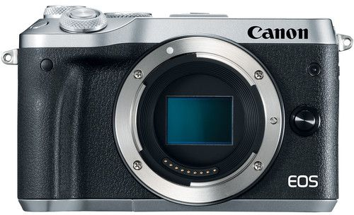 Canon EOS M6 , 24.2 MP Body Only Mirrorless Digital Camera, Silver