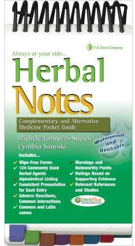 Herbal Notes Complementary and Alternative Medicine Pocket Guide by Michelle Iannuzzi-Sucich - Paperback