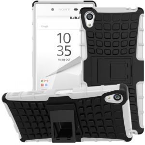 Snap-on Anti-slip PC + TPU Hybrid Shell Case for Sony Xperia Z5 Premium / dual - Black / White