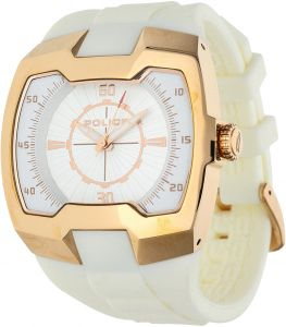 448e51311 Police Endeavor Men's White Leather Band Watch - P13452Jsr-04
