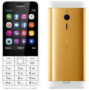 Nokia 230DS Gold Edition Dual SIM 16 MB 2G White