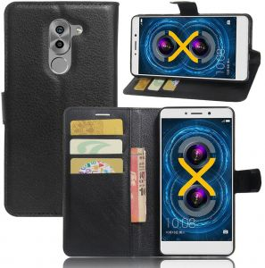 2373a1ef9 Huawei Honor 6X -Luxury Wallet PU Leather Case Magnetic Filp Holder Stand  Cover -Black
