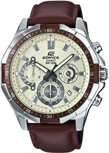62599b47d Casio Edifice Men's Cream Dial Leather Band Watch - EFR-554L-7AVUDF