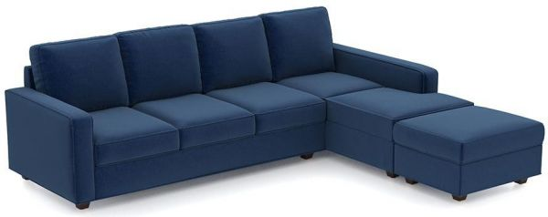 l shaped sofa bed suede blue 250 x 200 cm souq uae rh uae souq com l shape sofa bed dubai sofa bed l shaped leather