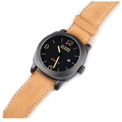 d55713ea8cb9c Curren Dress Watch For Men Analog Leather - 8158