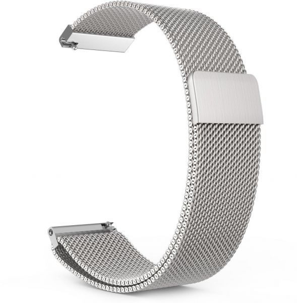 Samsung Gear S3 Stainless Steel Milanese Loop Band, Silver